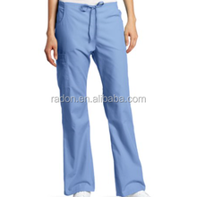 Unisex Back Elastic Cargo Pant natural hospital nursing uniform work scrub pant
