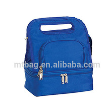 New design double layer lunch tote cooler bag