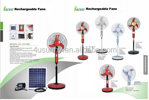 China factory Green Energy Solar Powered 12V DC Fan with LED Lighting System for Family