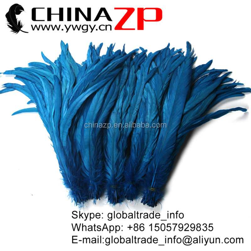 Factory Wholesale 100% Exporting Selected Prime Quality Cheap Colored Dark Turquoise Decorative Chicken Tail Feathers for Sale