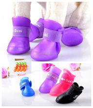 outdoor waterproof PVC dog galoshes dog shoe waterproof dog sock-pet socks