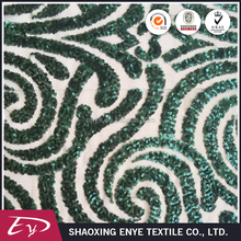 Wholesale polyester 3mm custom-made cheap sequin embroidery fabric
