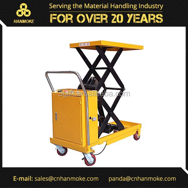 DC Powered Hydraulic Portable Electric Scissor Lift, Customized Available