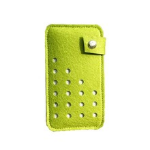 New Fashion Style Promotion Cheap Price Felt Phone Case with Dot Design