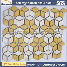 Irregular Kitchen Backsplash Metal Mosaic Tile