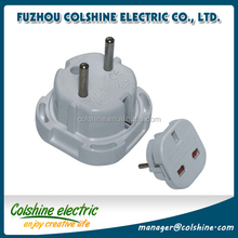Colshine 10A 16A 250V schuko Germany electrical power plug adapter/ male electrical plug
