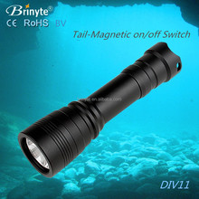 Brinyte DIV11 Backup Dive light Rechargeable Light Torch
