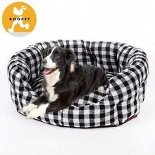 Shepherd check cute fancy dog kennels with thick cushion