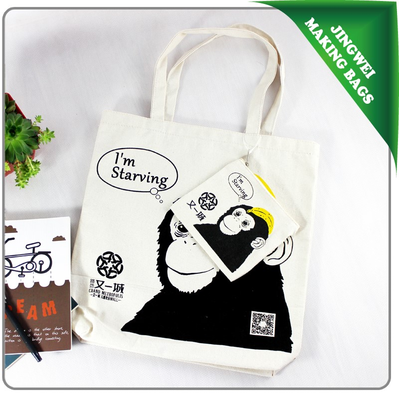 Best selling 12oz canvas cotton handmade cloth carry tote bag
