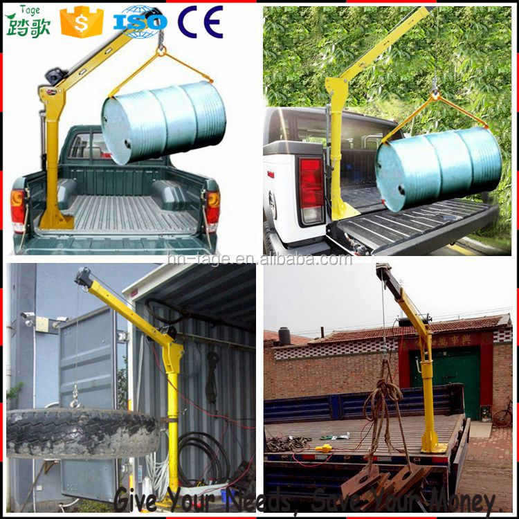 High quality mini pickup truck crane and 8 ton used crane truck