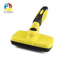 Dog Brush Self Cleaning Slicker Brush with Pet Steel Grooming Comb Removes