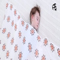 swaddle wrap muslin large 2 layers or 4 layers bamboo cotton baby quilt blanket