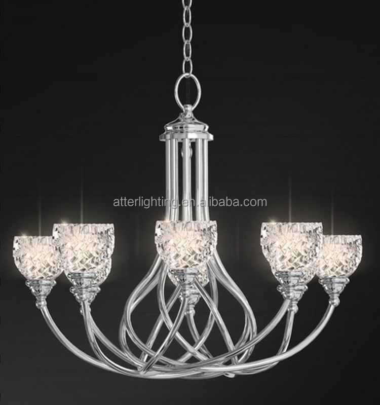 Hot sale E27 VDE/UL modern crystal chandelier