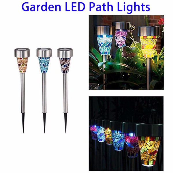 Christmas Decor Light Mosaic Decoration Stake LED Solar Garden Light, Solar LED Path Light