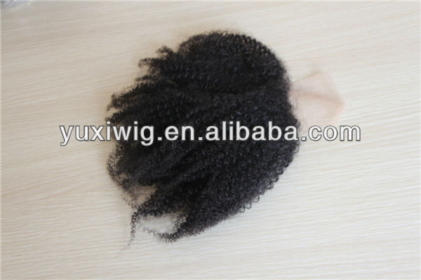 indian virgin hair wet and wavy kinky curly hair top closure