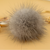 Cash sale fox/ rabbit/raccoon fur ball pompon keychain lucky fur ball keyrings hang for friends/gifts/family FK-070