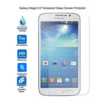 Premium Tempered glass Screen Protector for Samsung Galaxy Mega 5.8 / I9150 crystal clear