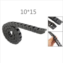 Free Shipping 1M 10 x 15 mm R28 Plastic Cable Drag Chain For CNC Machine,Inside diameter not open cover