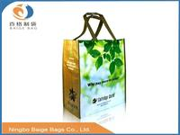 cheap non woven pp woven rpet lamination recyclable standard size folding shopping bag