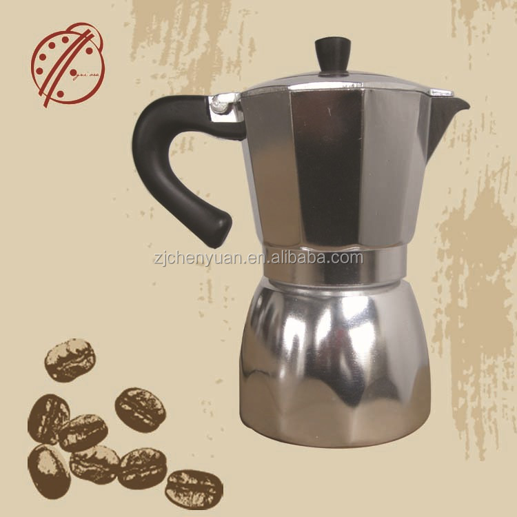 Aluminum italia innovative electric home appliances coffee maker 3cups