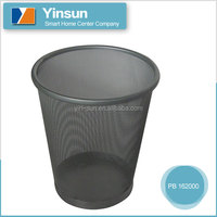 Coated iron wire mesh basket, top open metal waste bin