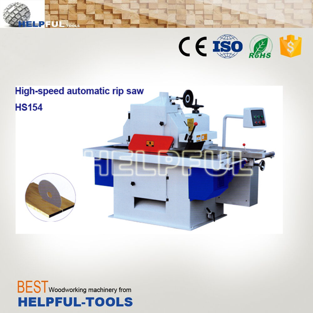 Helpful Brand Shandong Weihai High-speed automatic rip saw HS154 ,single rip saw,wood working machine