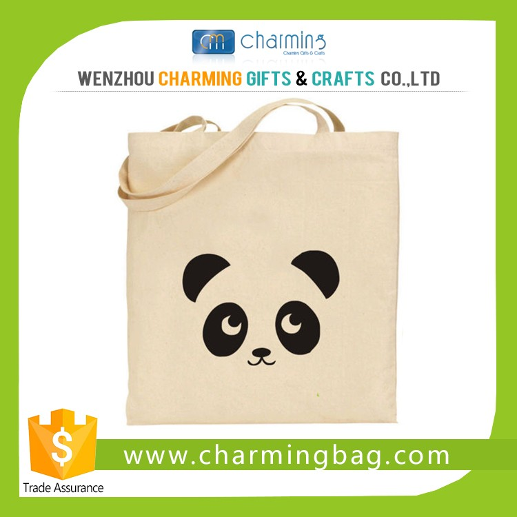 Customized logo recycled cotton shopping bag