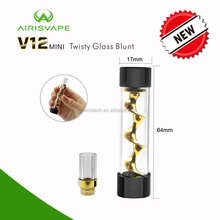 100% Original manufacturter Airisvape V12 mini twisty glass blunt Canada 510 vaporizer dry herb globe glass pen vaporizer