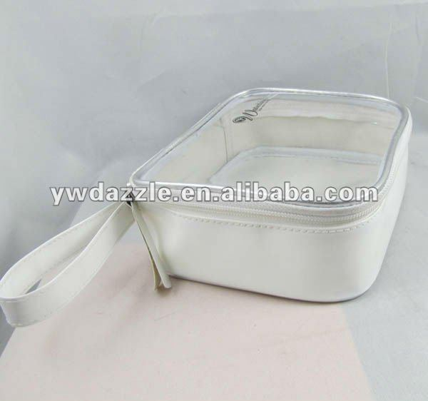 Hot sell customized cmyk printing colorful square transparent clear vinyl pvc cosmetic bag custom logo
