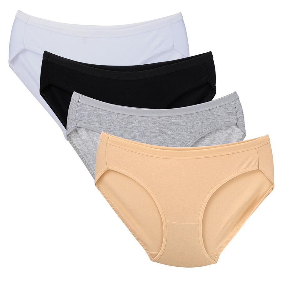 Closecret Women 6 Pack Seamless Thongs Underwear Ice Silk Comfy G-String Panties