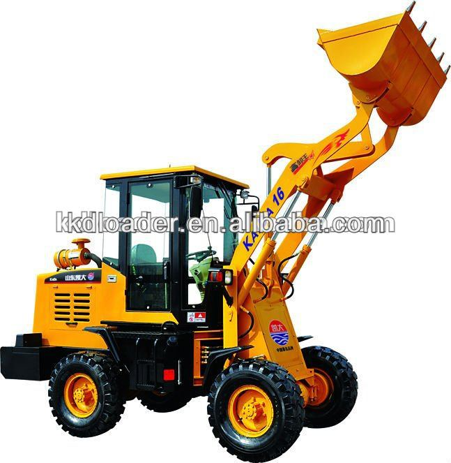 Good performance zl16 cheap wheel loader with ce, 0.6M3 bucket