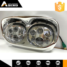 5.75inch round head lamp twin 45W headlight dual/double headlight for harley Road Glide