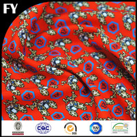 High quality digital custom print organic cotton fabric for kid