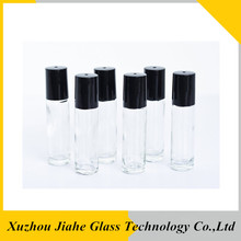 refillable perfume clear glass bottle with roller applicator and black cap personalized perfumes and more
