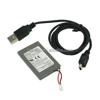Original 1800mAh 3.7V Rechargeable Battery Replacement with USB Data Charger Cable for PS3 Controller