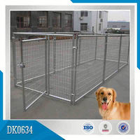 Do-It-Yourself Chain Link Box Dog Kennel