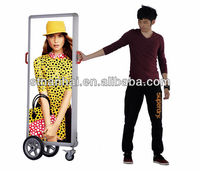 Free Shipping!!! J2A-236 New media mobile advertising billboard signs with wheels with rechargeable battery