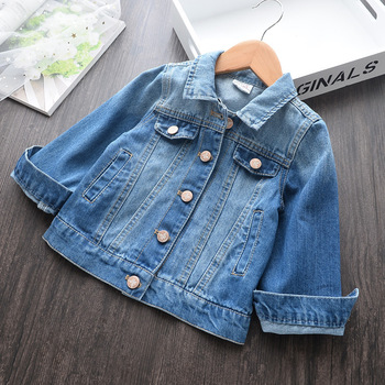 Children Denim Jackets Coats for Girls Casual Spring Fall Boys Clothes Kids Jeans Jacket