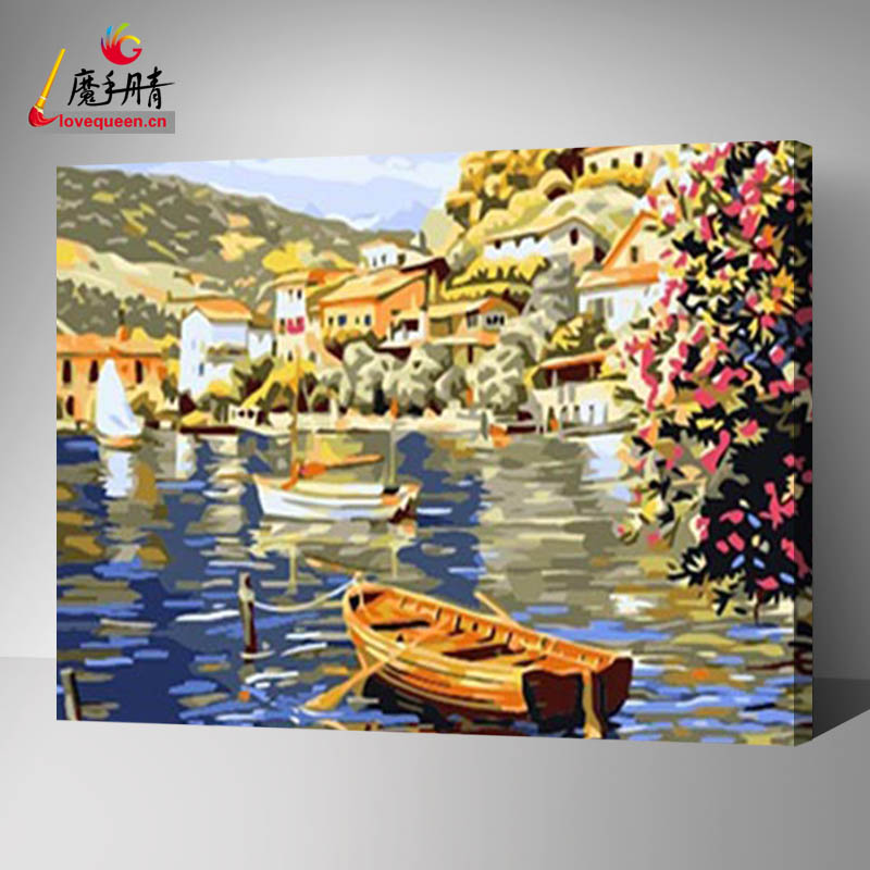 Beautiful and new designs flowers of oil painting on canvas for Venice scenery for wall art painting in your living room