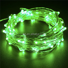 Copper Wire Led Holiday Twinkle Lights, Christmas Led Copper Wire String Lights green color 100 led 10 meters