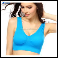 Fashion Sports Fitness Yoga Speed Dry Underwear Wireless Padded Tank Plus Size Racerback Sports Girls Bra
