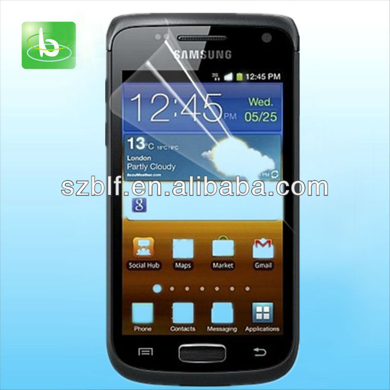 Anti-scratch screen guard for galaxy w i8150 mobile phone fast delivery