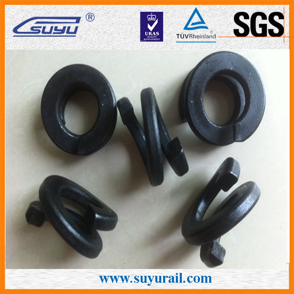 Railway double coil spring washer