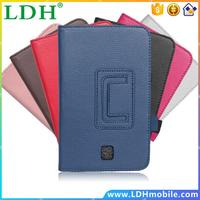 Folio Stand Leather Flip Case For Samsung Galaxy Tab 3 7.0 7 Tablet P3200 P3210 Wallet With Card Slots Handstrap Cover Shell