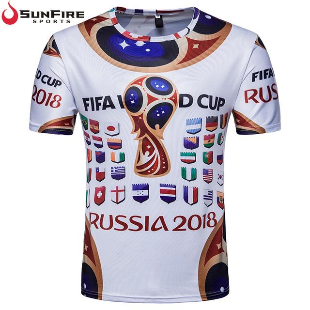 2018 Russia football world cup soccer fans short sleeve t-shirt