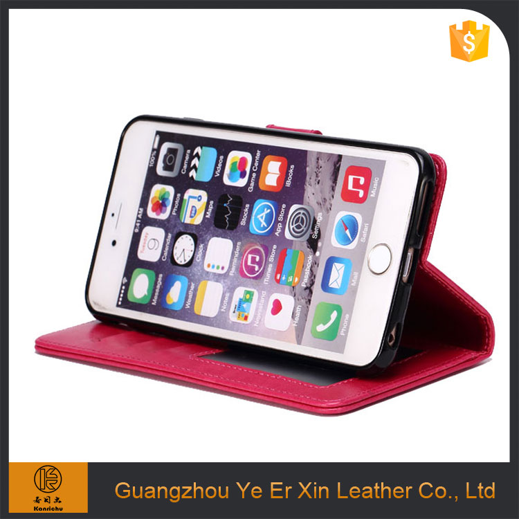 Factory price wholesale guangzhou oem smart leather mobile phone case for iphone 7/7 plus