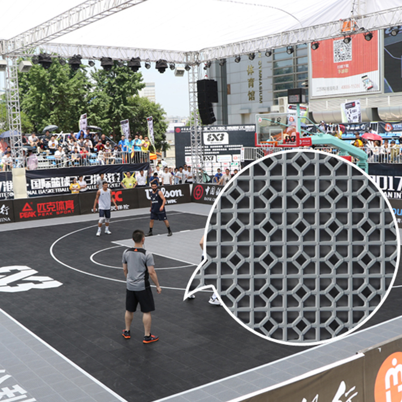 Portable Outdoor PP Plastic Interlocking Removable Basketball Court Sports Flooring