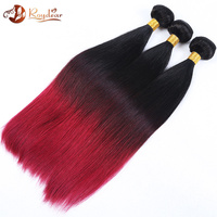 Fashion new type red/wine hair color hair extension red color Brazilian remy human hair weaving