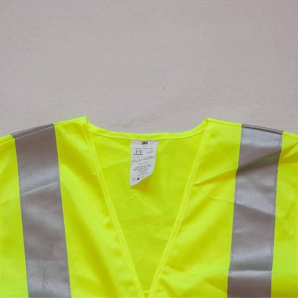 Customizable Adjust Hi Vis Fluorescent Yellow Reflective Construction Work Vest Safety Used Work Uniform