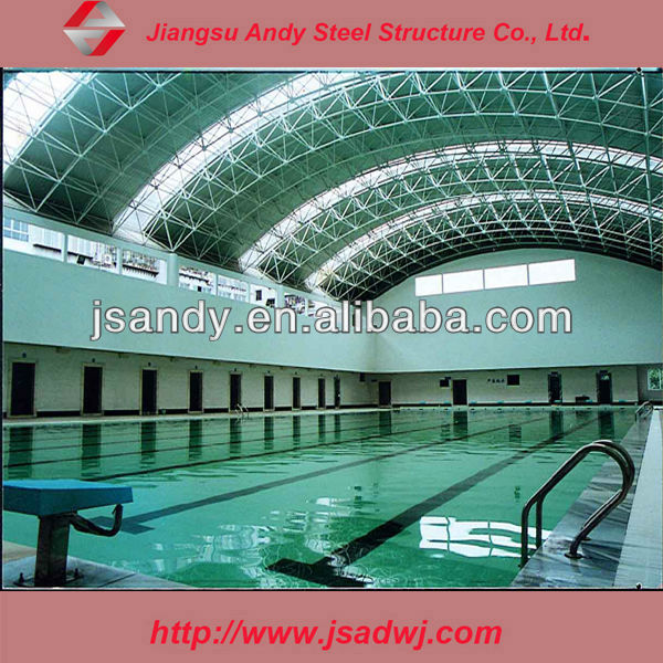prefabricated high quality galvanized steel truss roofing swimming pool